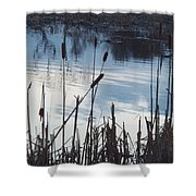 Pond At Twilight Shower Curtain
