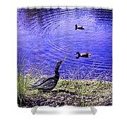 Pond Days Shower Curtain