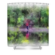 Pond Fishing Photo Art Shower Curtain