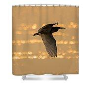 Pond Heron Shower Curtain