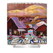 Pond Hockey 1 Shower Curtain
