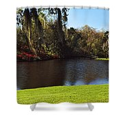 Pond In A Garden, Middleton Place Shower Curtain
