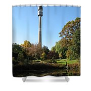 Autumn Colors At A Pond Shower Curtain
