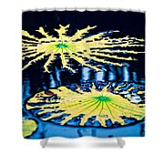 Pond Lily Pad Abstract Shower Curtain