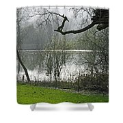 Pond Near Home Farm - Ilam Shower Curtain