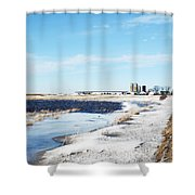 Pond Or Field Shower Curtain