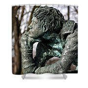 Pondering The Question Shower Curtain by William Selander