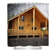Pond's Cabin Shower Curtain