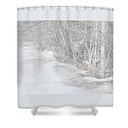 Pondside Thaw Shower Curtain