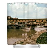 Pont De Vecchio On The Arno Shower Curtain