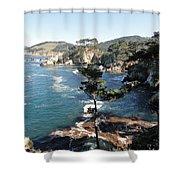 Pont Lobos Cove Shower Curtain
