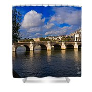 Pont Neuf Over The Seine River Paris Shower Curtain
