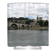 Pont Saint Benezet And Pope Palace Shower Curtain