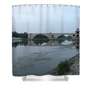 Pont Saint Benezet In The Eveninglight Shower Curtain