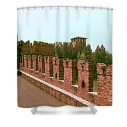 Pont Scaligero Shower Curtain