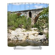 Pont St. Julien And River Shower Curtain
