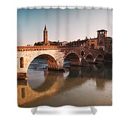 Ponte Pietra - Verona Shower Curtain