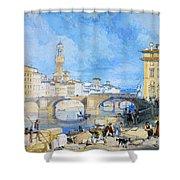 Ponte Santa Trinitia Florence Shower Curtain