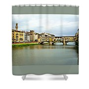 Ponte Vecchio 1 Shower Curtain by Ellen Henneke