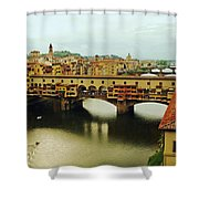 Ponte Vecchio 2 Shower Curtain by Ellen Henneke