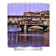 Ponte Vecchio Bridge - Florence Shower Curtain