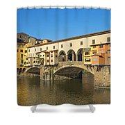 Ponte Vecchio Bridge In Florence Shower Curtain