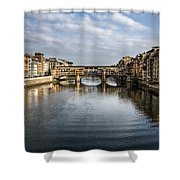 Ponte Vecchio Shower Curtain by Dave Bowman