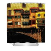 Ponte Vecchio Firenze Shower Curtain