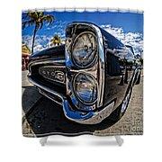 Pontiac Gto Convertible Ft Myers Beach Florida Shower Curtain by Edward Fielding