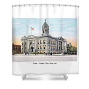 Pontiac Michigan - Ponitiac Court House - 1910 Shower Curtain