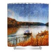 Pontoon Boat Photo Art 02 Shower Curtain