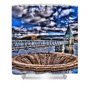 Pontsticill Reservoir Merthyr Tydfil Shower Curtain by Steve Purnell