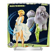 Poodle Art - The Seven Year Itch Movie Poster Shower Curtain