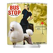 Poodle Standard Art - Bus Stop Movie Poster Shower Curtain