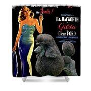 Poodle Standard Art - Gilda Movie Poster Shower Curtain