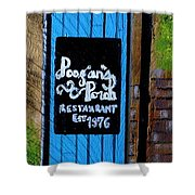 Poogan's Porch Shower Curtain