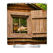 Pooh In The Attic Shower Curtain
