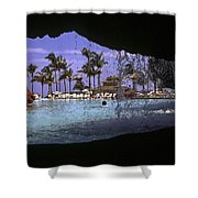 Pool And Palms Shower Curtain