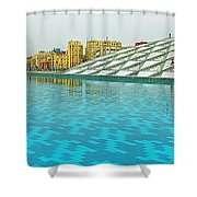 Pool And Roof Of Alexandria Library-egypt  Shower Curtain