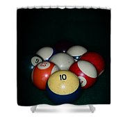 Pool Balls Shower Curtain