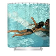 Pool Couple 9717b Shower Curtain