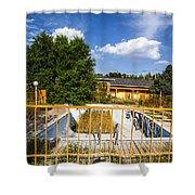 Pool Garden Shower Curtain