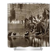 Pool In The Del Monte Bath House Monterey Circa 1885 Shower Curtain