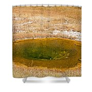 Pool In Upper Geyser Basin In Yellowstone National Park Shower Curtain