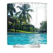 Pool Panorama Shower Curtain