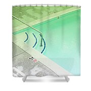 Pool Steps Shallow End Shower Curtain