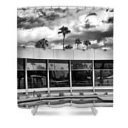 Pool Storm Palm Springs Shower Curtain