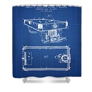 Pool Table Patent From 1892 - Blueprint Shower Curtain