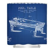 Pool Table Patent From 1901 - Blueprint Shower Curtain