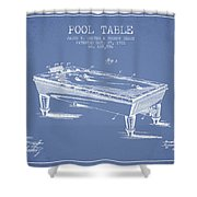 Pool Table Patent From 1901 - Light Blue Shower Curtain